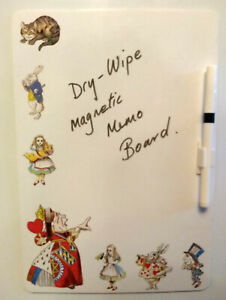 ALICE IN WONDERLAND DRY - WIPE MAGNETIC MEMO BOARD PERFECT CHRISTMAS GIFT IDEA
