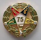 75 YEAR SERVICE AWARD ORDER OF EASTERN STAR lapel pin gold