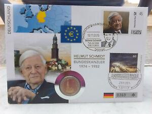 2 Euro Numisbrief Deutschland Helmut Schmidt kleinere Auflage