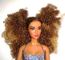 Barbie Nude Doll Curly Brown/Blonde Haired Model Muse W/Bodysuit For Ooak bz0 1