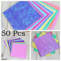50 Pcs Sparkling Shiny Glitter Paper Bird Boat Animal Star Origami Best Gift