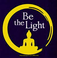 Be The Light - Small Bumper Sticker / Decal