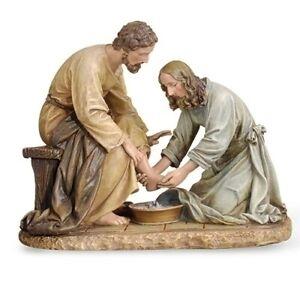 New! Jesus Washing His Disciple's Feet Figurine Statue Religious Christianity
