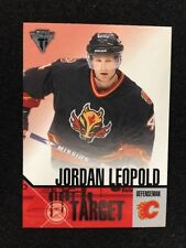 2002-03 PS Titanium Right on Target #4 Jordan Leopold. Mint.