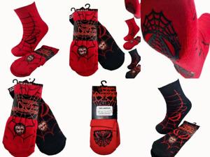 Kids Slipper Bed Socks Boys Girls Soft Gift 2 Pairs Spider Web Non Slip Winter