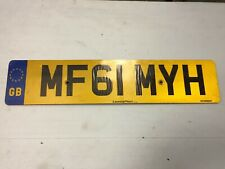 REAR UK GBLICENSE PLATE EURO MINI LAND ROVER RR BENTLEY #MF61MYH Manchester