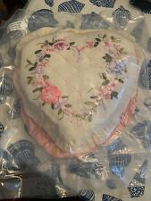 """(2) Pack Heaet Pillows 9"""" Pink & White Floral Sif"""