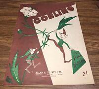 "Vintage 1936 ""GOBLINS"" by Frank Hutchens. Piano Solo"