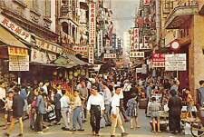 HONG KONG, CHINA, 11 PC's, STREETS, HARBOR, OVERVIEWS, STATUE LUX PUB c. 1970's