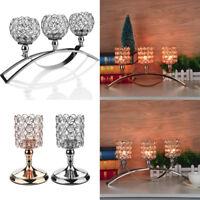 Crystal Votive Candlesticks Candle Holder Wedding Event Banquet Tabletop Decor K