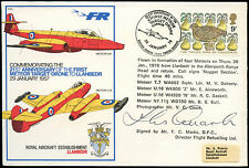 GB 1978 RAF C53 Meteor Target Drone Signed Flown Cover #C25008