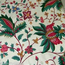Vintage Waverly Colonial Paisley Fabric Cotton Green Floral 14946 Berkshire