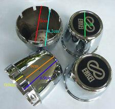 4x Cup 80 MM Chrome Wheel Center Caps Cover Hub Rim car truck cc80 Enkei Sticker