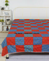 Patch Cotton Bohemian Quilt Reversible Blanket Throw Ac Dohar Ethnic Bedspread