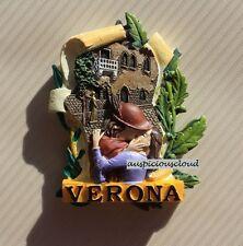 TOURIST SOUVENIR 3D RESIN FRIDGE MAGNET -- Romeo and Juliet , Verona , Italy