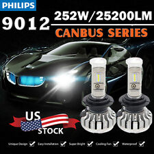 CSP NEW 25200LM 252W LED Headlight Kit 9012 6000K CANBUS Error Free From USA