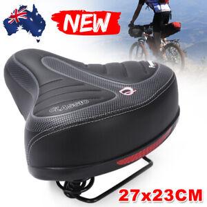 Ultra Soft Wide Big Bum Sprung Bike Bicycle Gel Cushioned Saddle Seat Comfort AU
