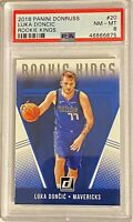 LUKA DONCIC 2018-19 Panini Donruss Rookie Kings Insert #20 RC NM-MT PSA 8