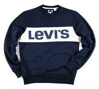 Levis Sweatshirt Men's Crew Neck Navy Blue White Colour Block 56802-0000
