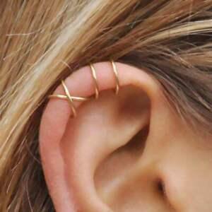 1 Paar Echt 925 Sterling Silber Ear cuff Ohrklemme ohne Loch Damen Ohrringe