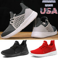 Mens Athletic Sneakers Outdoor Breathable Running Work Casual Walking Shoes Size