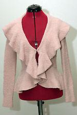 Moda International Victoria's Secret Open Cardigan Knit Sweater Pink Size XS EUC