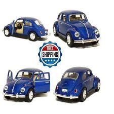 "Blue 5"" 1967 Volkswagen Classic Beetle 1:32 Scale Metal Diecast Model VW Car NEW"