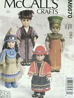 """McCall's International Costumes & Accessories for 18"""" Dolls Sewing Pattern M6670"""