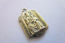 Seltener antiker Anhänger in Silber 835 Religiöse Motive Pilgermedaille