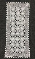 """White 14x34"""" Cotton Vintage Handmade Crochet Lace Table Runner Placemat Cover"""