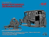 ICM 1/35 Model T 1917 Ambulance with US Medical Personnel # 35662