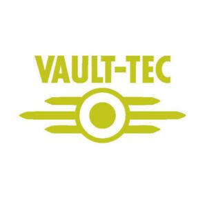 Fallout 'Vault-Tec' logo Vinyl Sticker Decal GOLD GLOSS 7.6 x 4 cm