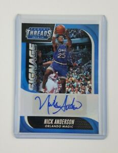 Nick Anderson 2018-19 Panini NBA Threads Signage Autograph