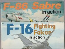 Squadron Signal Publication #53 F16 Falcon + #33 F86 Sabre Photos Models Crafts