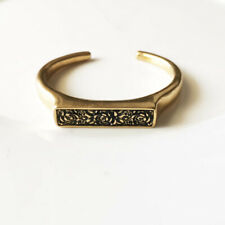 New Lucky Brand Floral Open Bangle Cuff Gift Vintage Women Party Holiday Jewelry
