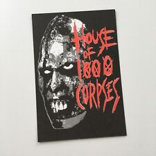 Rob Zombie House Of 1000 Corpses Postcard RARE COLLECTABLE