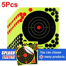"5PCS 8"" Fluorescence Thick Gun Paper Targets Shooting Hunting Rifle Pistol Range"