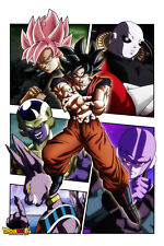 Dragon Ball Super Poster Goku Villains Black Beerus Hit 12inx18in Free Shipping