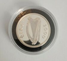 Royal Mint 925 Silver Proof Piedfort Irish One Punt Millennium Masterpiece Coin