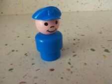 Vintage Fisher-Price Little People Short Blue Pilot