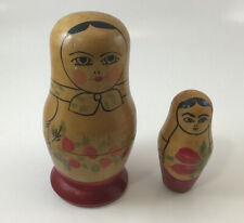 Vintage Russian Matryoshka Nesting Doll 3 Pieces Marked