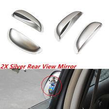 Car Auto A Pair Of Silver Row Rear View Mirror Improve Visual Range Blind Spot