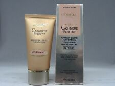 LOREAL CASHMERE PERFECT - POWDERY LIQUID FOUNDATION - NATURAL IVORY - NEW IN BOX