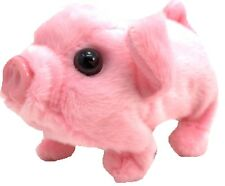 Toy Pig – Battery Operated Walking & Tail Wagging Plush Pig - Colors May Vary