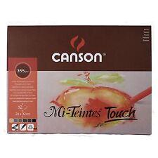 Canson Mi-Teintes Touch pastel papier 24 cm x 32 cm 12 feuilles 4 couleurs 350gsm Pad