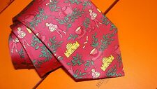 HERMES  silk tie. with Tea pickers,tea set design, Fabulous !! , NEW and boxed