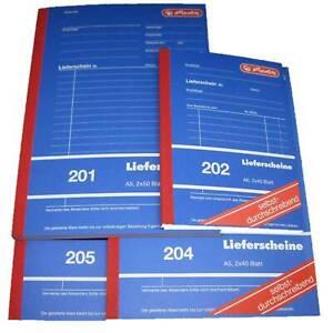 Herlitz Lieferscheine 201 202 204 205 A5 A6 Lieferscheinblock Buch Formular