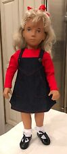Boneka Denim Overalls with Pockets + Red Shirt for Sasha Doll 40cm  Last one