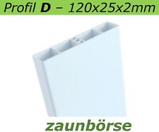 Zaunbretter D (120x25x2mm) weiss L=74cm Profiware Kunststoffzaun Balkon Geländer