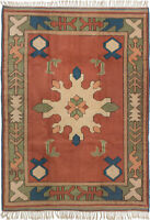 """Hand-knotted Carpet 5'11"""" x 8'0"""" Traditional Vintage Wool Rug...DISCOUNTED!"""